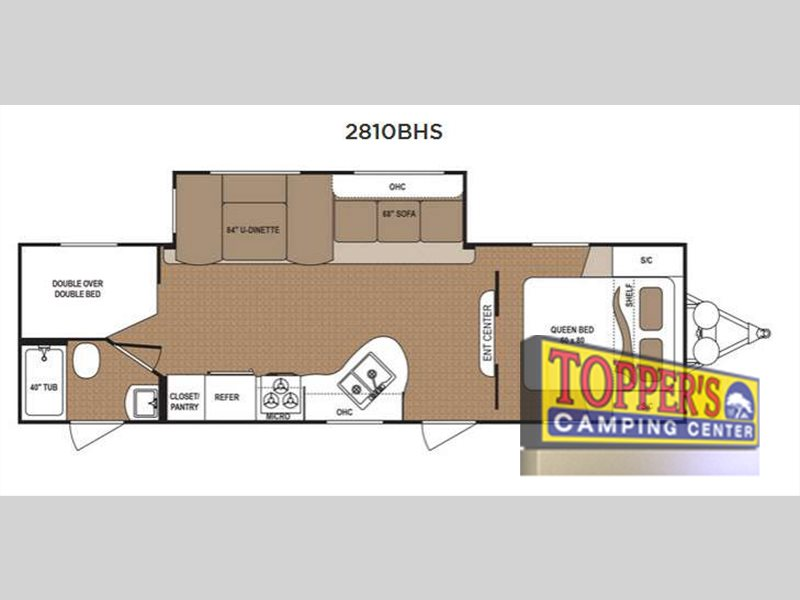 Dutchmen Aspen Trail 2810BH Travel Trailer Bunkhouse floorplan