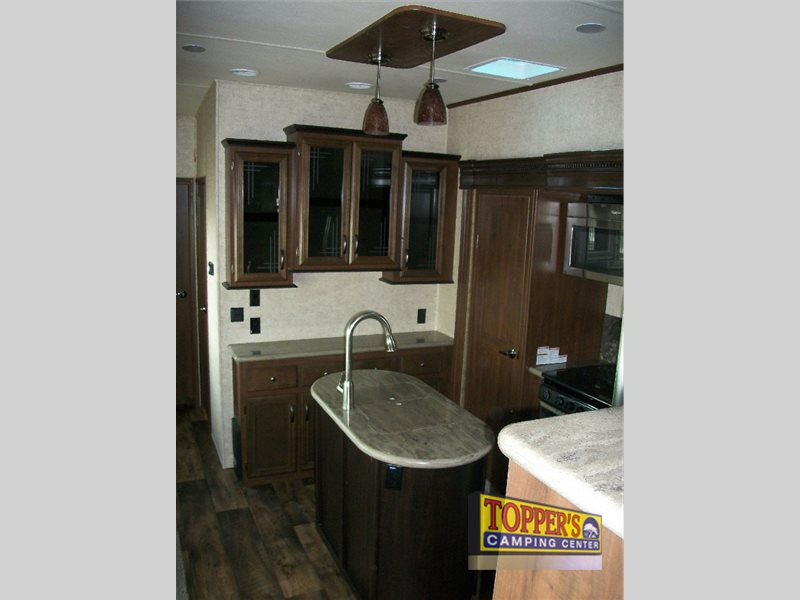 Forest River Sandpiper 377FLIK Fifth Wheel RV Kitchen