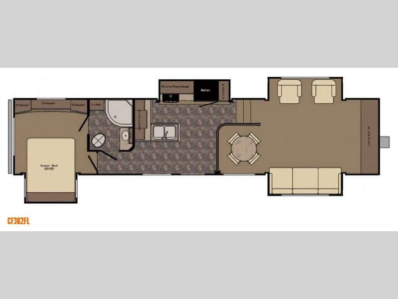 Crossroads Cruiser 362FL Fifth Wheel Floorplan