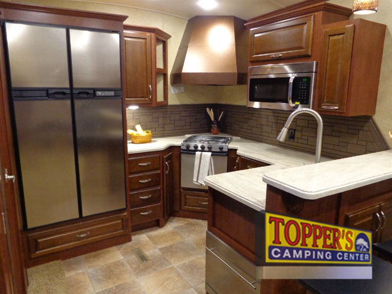 Evergreen Bay Hill Fifth Wheel Kitchen