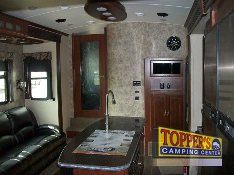Evergreen Tesla 3950 Fifth Wheel Toy Hauler Interior Living Area