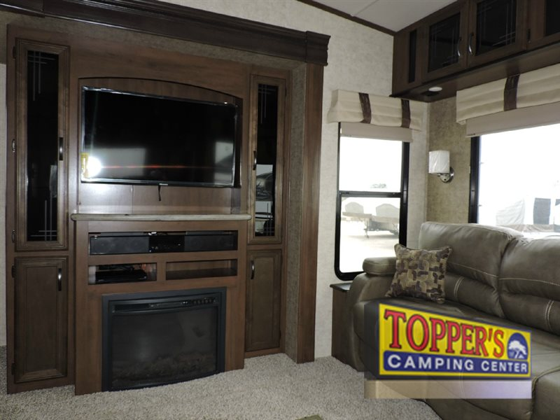 Forest River Sandpiper 378FB Fifth Wheel Fireplace