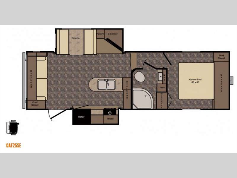 Crossroads Cruiser Aire 25SE Fifth Wheel Floorplan