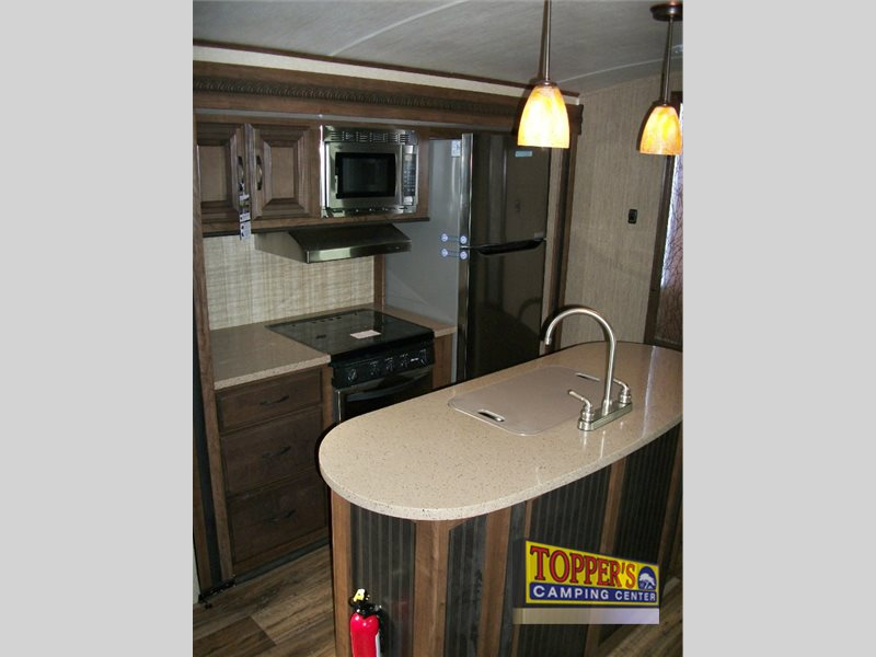 Cruiser Radiance 32TSBG Travel Trailer Kitchen