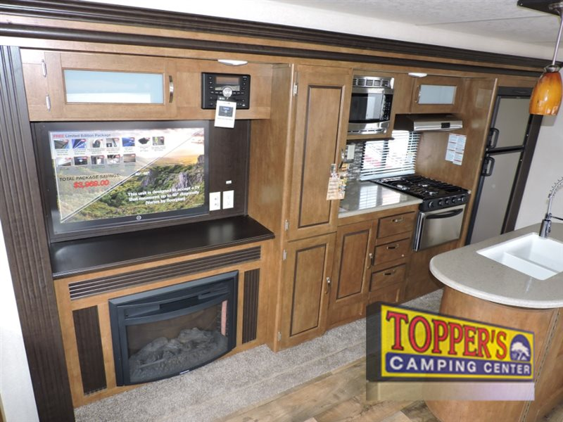 Forest River Wildwood Travel Trailer Fireplace