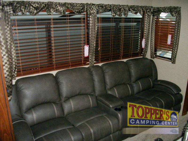 Forest River Vengeance Touring Edition 38L12 Fifth Wheel Toy Hauler Seating