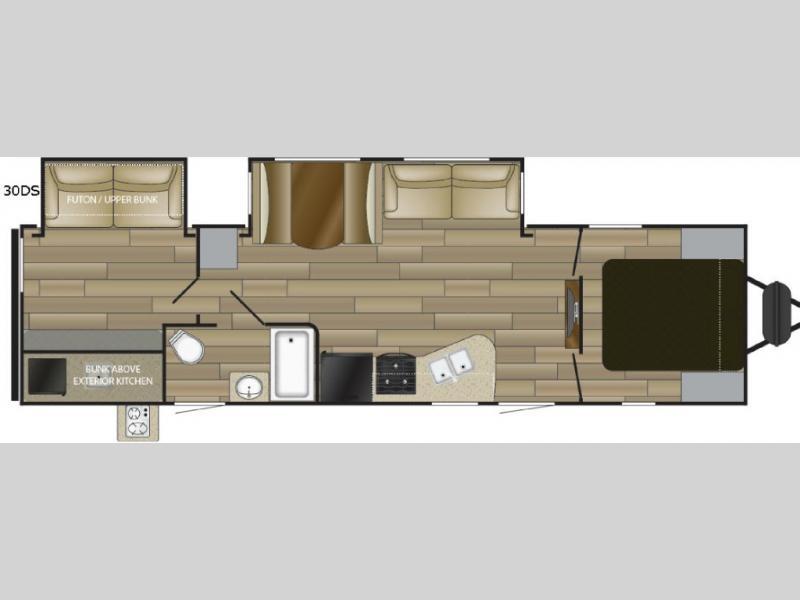 Cruiser Radiance 30DS Travel Trailer Floorplan