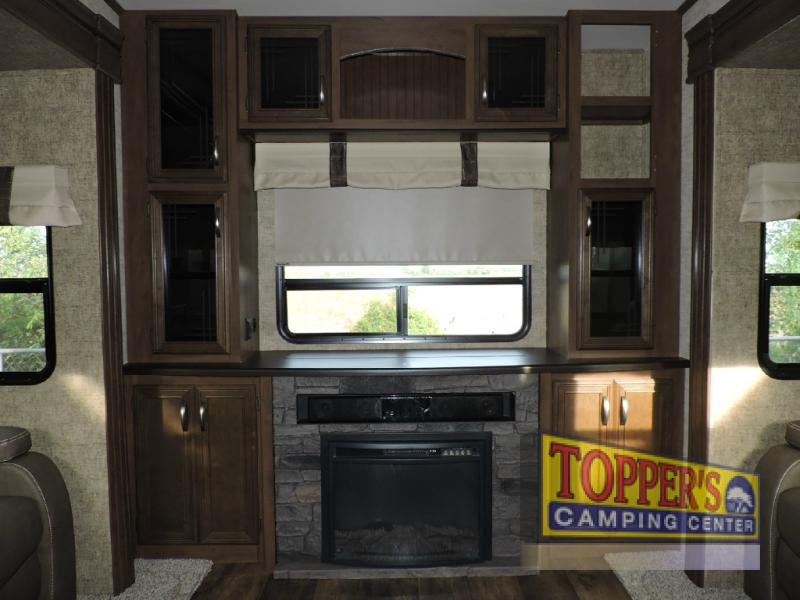 Forest River Sandpiper 389RD Fifth Wheel Fireplace