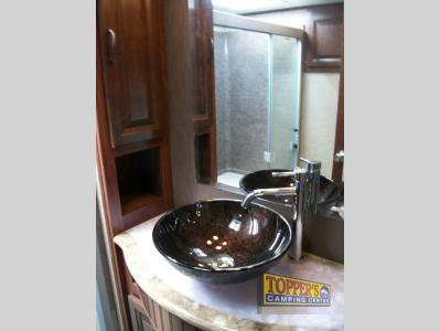 Forest River Vengeance 38L12 Touring Edition Fifth Wheel Toy Hauler Bathroom Sink