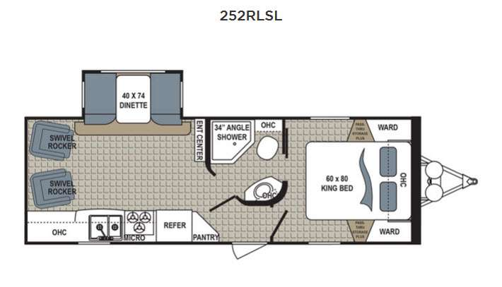 Dutchmen Kodiak 252RLSL Travel Trailer Floorplan