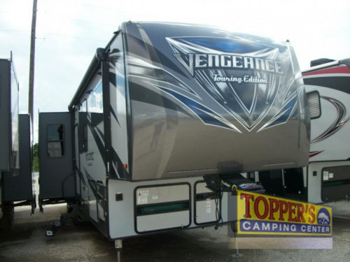 2016 Forest River Vengeance Touring Edition 38L12 toy hauler fifth wheel