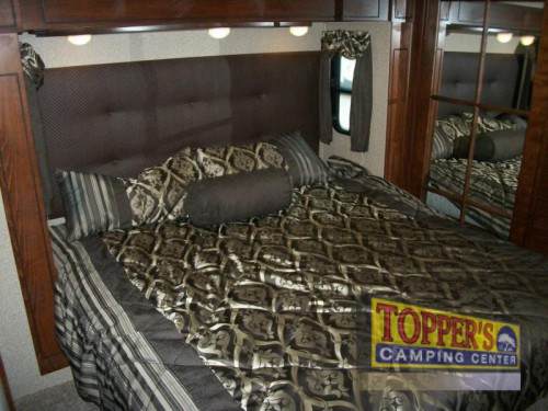 2016 Forest River Vengeance Touring Edition 38L12 toy hauler fifth wheel master bedroom