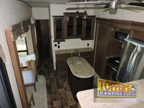 Sandpiper 377FLIK Fifth Wheel Kitchen