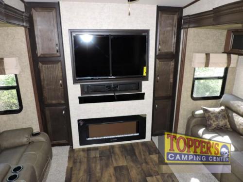 Sandpiper 369KBAR Fifth Wheel Living Room