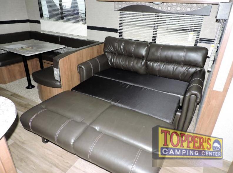 aspen trail travel trailer living room
