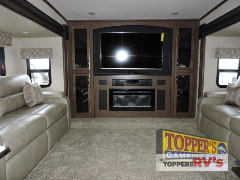 living room Sandpiper 377FLIK Fifth Wheel