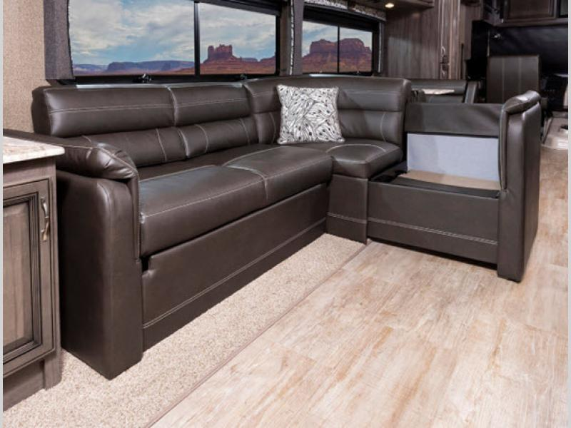 living room in vacationer rv